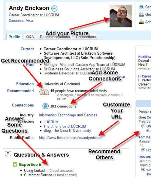 Customized LinkedIn Profile